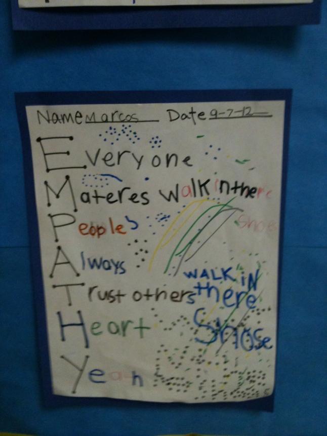 Ridgetop Elementary Empathy Poem Examples