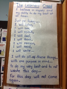Linder Learner's Creed - all read daily over the PA