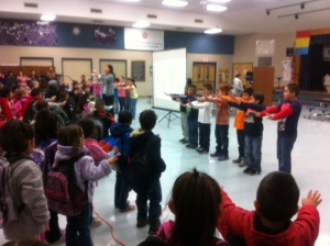 Metz 2nd grade leading calm down dance