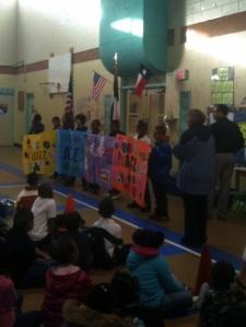 Oak Springs peace banners