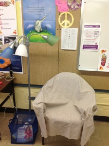 Teacher's Lounge Peace Area at Sims Elementary